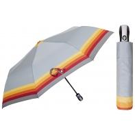 Automatyczna parasolka damska marki Parasol, szara w paski