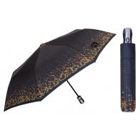 Automatyczna parasolka damska marki Parasol, granatowa w trójkąty