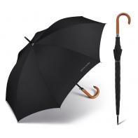 Długi parasol męski Pierre Cardin z drewnianą rączką