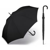 Duży czarny parasol wiatroodporny Happy Rain