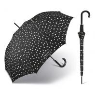Długi czarny parasol Happy Rain zmieniający kolor