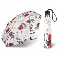 Automatyczna parasolka damska Pierre Cardin biała w kwiaty