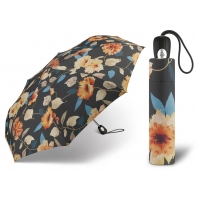 Automatyczna parasolka damska Pierre Cardin czarna w kwiaty