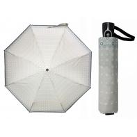 Bardzo mocna damska automatyczna parasolka Doppler, szara
