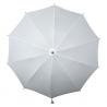 Biała parasolka z regulowanym paskiem na ramię