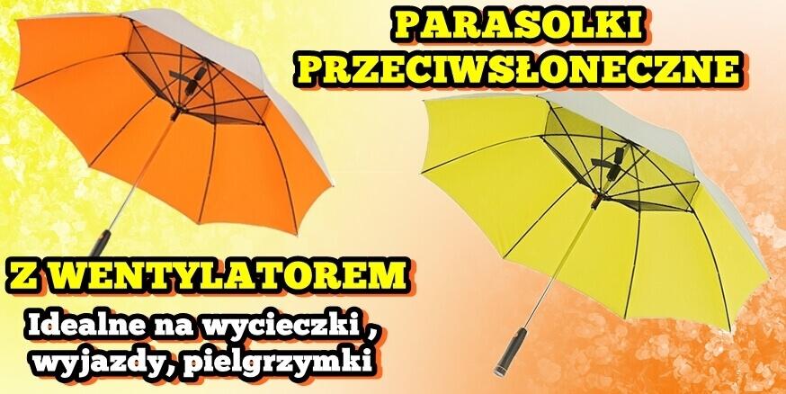 Parasolki przeciwsłoneczne z wentylatorem